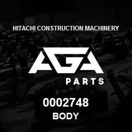 0002748 Hitachi BODY | AGA Parts