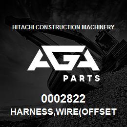 0002822 Hitachi HARNESS,WIRE(OFFSET BOOM)   AGA Parts