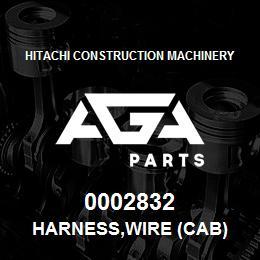0002832 Hitachi HARNESS,WIRE (CAB) | AGA Parts