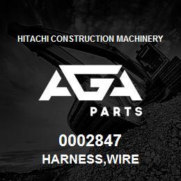 0002847 Hitachi HARNESS,WIRE | AGA Parts