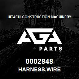 0002848 Hitachi HARNESS,WIRE | AGA Parts