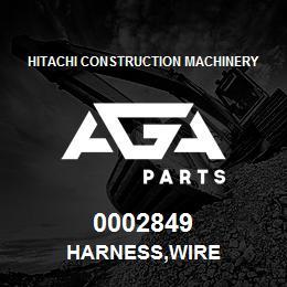 0002849 Hitachi HARNESS,WIRE | AGA Parts