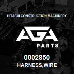 0002850 Hitachi HARNESS,WIRE | AGA Parts