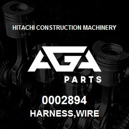 0002894 Hitachi HARNESS,WIRE | AGA Parts