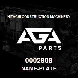 0002909 Hitachi NAME-PLATE | AGA Parts