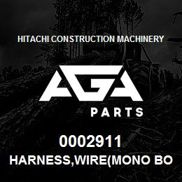 0002911 Hitachi HARNESS,WIRE(MONO BOOM) | AGA Parts