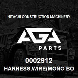 0002912 Hitachi HARNESS,WIRE(MONO BOOM) | AGA Parts