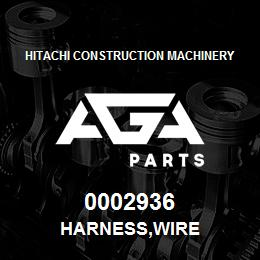 0002936 Hitachi HARNESS,WIRE | AGA Parts