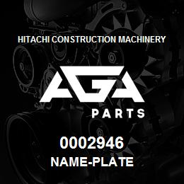 0002946 Hitachi NAME-PLATE | AGA Parts