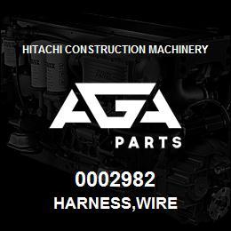 0002982 Hitachi HARNESS,WIRE | AGA Parts