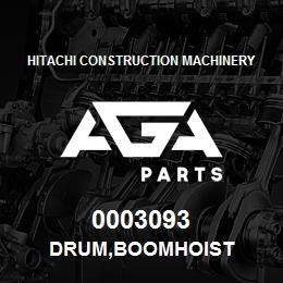 0003093 Hitachi DRUM,BOOMHOIST | AGA Parts