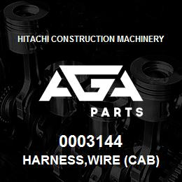 0003144 Hitachi HARNESS,WIRE (CAB) | AGA Parts