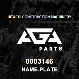 0003146 Hitachi NAME-PLATE | AGA Parts