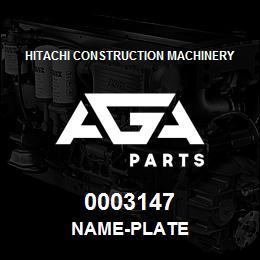 0003147 Hitachi NAME-PLATE | AGA Parts