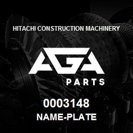 0003148 Hitachi NAME-PLATE | AGA Parts