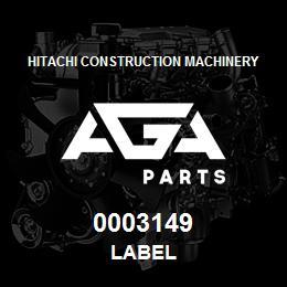 0003149 Hitachi LABEL | AGA Parts