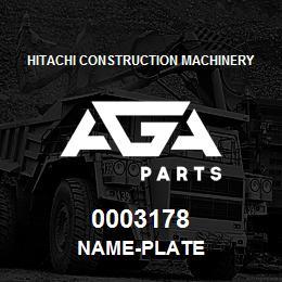 0003178 Hitachi NAME-PLATE | AGA Parts