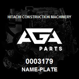 0003179 Hitachi NAME-PLATE | AGA Parts