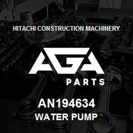 AN194634 Hitachi Construction Machinery WATER PUMP | AGA Parts