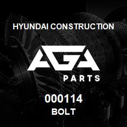 000114 Hyundai Construction BOLT | AGA Parts