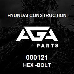000121 Hyundai Construction HEX -BOLT | AGA Parts