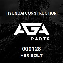 000128 Hyundai Construction HEX BOLT | AGA Parts