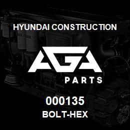 000135 Hyundai Construction BOLT-HEX | AGA Parts