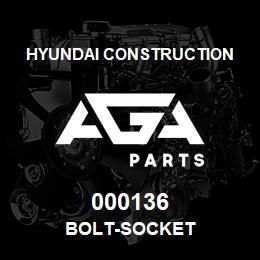 000136 Hyundai Construction BOLT-SOCKET | AGA Parts