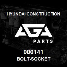 000141 Hyundai Construction BOLT-SOCKET   AGA Parts