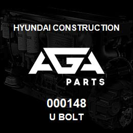 000148 Hyundai Construction U BOLT | AGA Parts