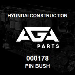 000178 Hyundai Construction PIN BUSH | AGA Parts
