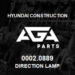 0002.0889 Hyundai Construction DIRECTION LAMP | AGA Parts
