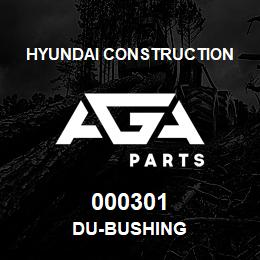 000301 Hyundai Construction DU-BUSHING | AGA Parts