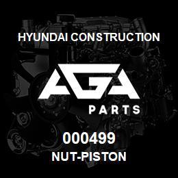 000499 Hyundai Construction NUT-PISTON | AGA Parts