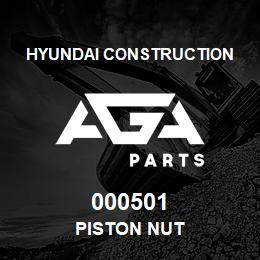 000501 Hyundai Construction PISTON NUT | AGA Parts