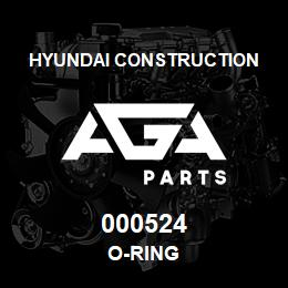 000524 Hyundai Construction O-RING | AGA Parts