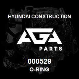 000529 Hyundai Construction O-RING | AGA Parts