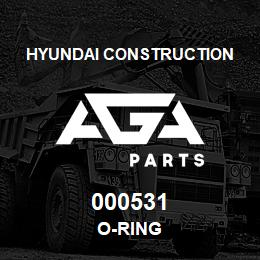 000531 Hyundai Construction O-RING | AGA Parts