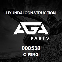 000538 Hyundai Construction O-RING | AGA Parts