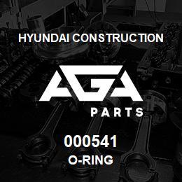000541 Hyundai Construction O-RING   AGA Parts