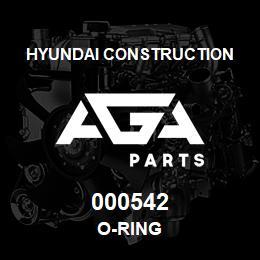 000542 Hyundai Construction O-RING | AGA Parts