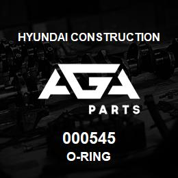 000545 Hyundai Construction O-RING | AGA Parts