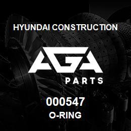 000547 Hyundai Construction O-RING | AGA Parts