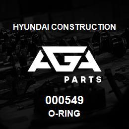 000549 Hyundai Construction O-RING   AGA Parts