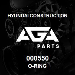 000550 Hyundai Construction O-RING | AGA Parts