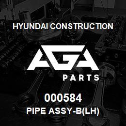 000584 Hyundai Construction PIPE ASSY-B(LH) | AGA Parts