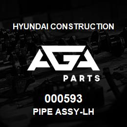 000593 Hyundai Construction PIPE ASSY-LH | AGA Parts