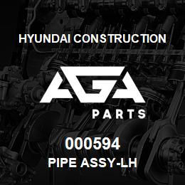 000594 Hyundai Construction PIPE ASSY-LH | AGA Parts