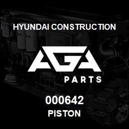 000642 Hyundai Construction PISTON | AGA Parts