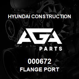 000672 Hyundai Construction FLANGE PORT | AGA Parts
